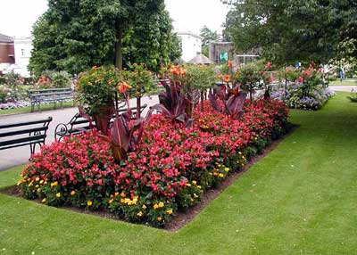 Free flower bed design plan Is there any edible plants