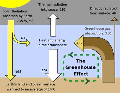 Definition Of Enhanced Greenhouse Effect Diorama Of The Greenhouse